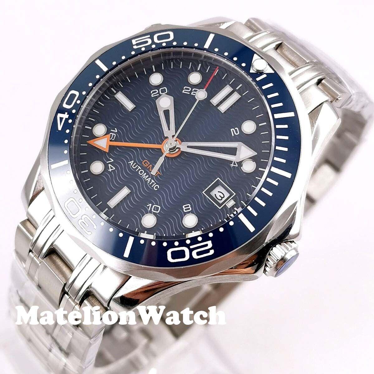 Bliger 41mm GMT 3804  Automatic men's watch sapphire glass l