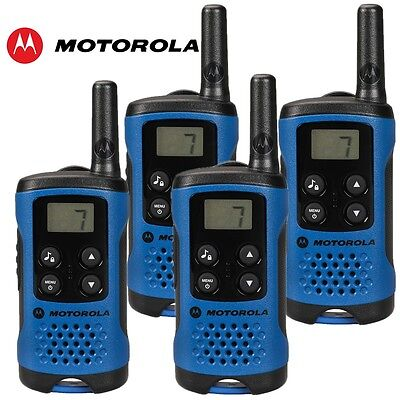 4er Set Motorola TLKR T41 4x Funkgeräte blau NEU OVP