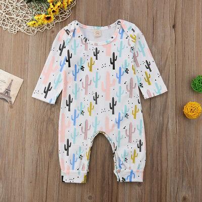 US Newborn Infant Baby Boy Girl Cactus Romper Bodysuit Jumpsuit Outfit Clothes](Cactus Outfit)