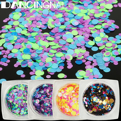 Round Glitter Paillette Dot Shape Mini Sequins Confetti Loose Nail Art 3D Decor