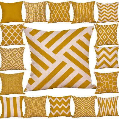 Senf Kissenbezug gelb geometrische Herbst Herbst Kissenbezug PYLE dekorativ - Herbst Dekorative Kissen