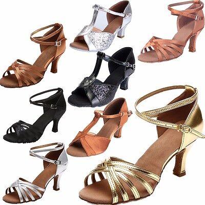 Damen Tanzschuhe Latin Tango Ballroom Salsa Dance Schuhe Sandalen  Ca.5/7cm Neu