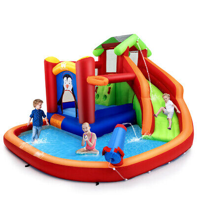 Inflatable Slide Bouncer and Water Park Bounce House w/ Splash Pool Water (Slide Bounce House)