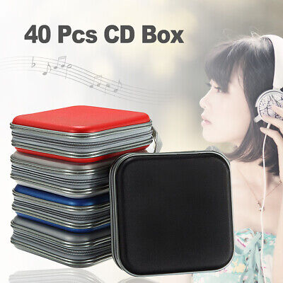 40 Disc Double-side CD DVD Storage Case Organizer Holder Hard Wallet Album for sale  Shipping to Canada