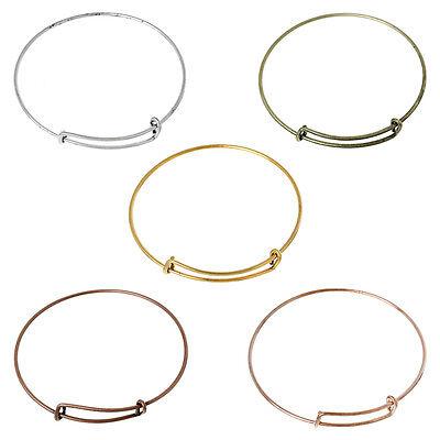5 Expandable Bangle Charm Bracelets Mixed Colours 70mm Diametre J60405M