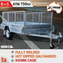 Xtreme 8×5 Full Welded Galvanised Box Trailer 600mm Cage Fairfield East Fairfield Area Preview