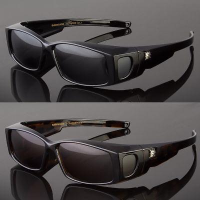 POLARIZED SMALL SOLAR SHIELD FIT OVER SUNGLASSES COVER ALL GLASSES DRIVE FISH - Small Plastic Glasses