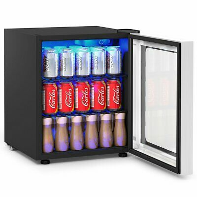 60 Can Beverage Mini  Refrigerator w- Glass Door
