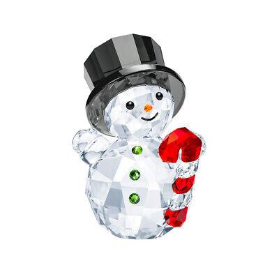 Cristal de Swarovski Snowman Con Caramelo Caña #5464886 Marca Punta Navidad Save