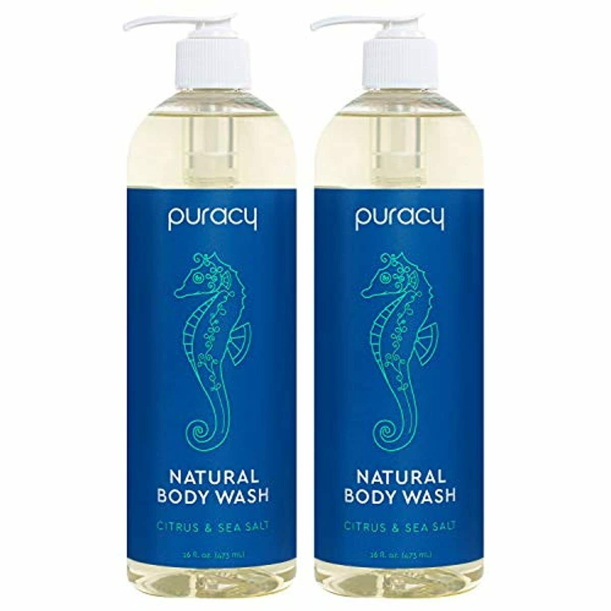 Puracy Natural Body Wash, Sulfate-Free Bath and Shower Gel,