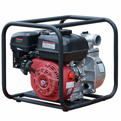 2 Gas Water Pump Semi Trash Pump 6.5 Hp 2 Inch Inlet Outlet Npt New Pool Marine