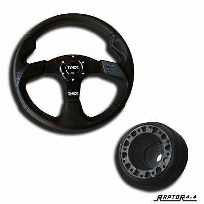 """Land Rover Defender Sport Steering Wheel 14"""" Faux Leather With 48 Spline Boss"""