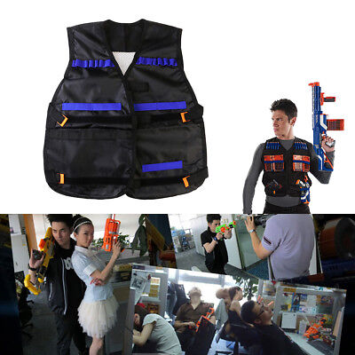 Tactical Vest Kids Toy Gun Clip Jacket Foam Bullet Holder For Nerf N-strike