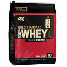 Optimum 100% Gold Standard WHEY PROTEIN Powder 6 lb, 90 Serves, 2 FLAVORS - SALE