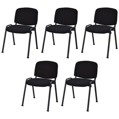 5 Pcs Office Conference Chair Guest Waiting Room Reception Wergonomic Backrest