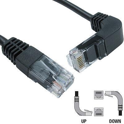 1m CAT5e RJ45 Datos Cable de Conexión Clavija- hacia Abajo Facing Ángulo...