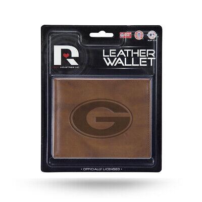 Georgia Brown Leather (Georgia Bulldogs NCAA Embossed Brown Leather Billfold Wallet )