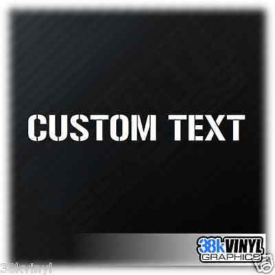 x2 Custom Text 30cm Car Stickers Personalised Lettering Name Funny Bumper Decal