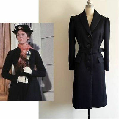 Mary Poppins black Coat jacket cosplay costume custom made  - Mary Poppins Custome