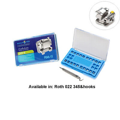 Easyinsmile 1set Dental Self Ligating Bracket Braces Roth 022 345 Hook With Tool