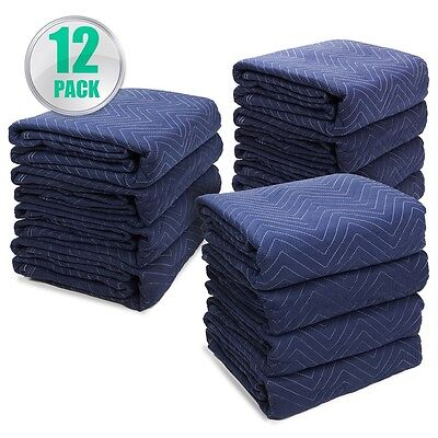 "Permium Pro Moving Blankets Padded Furniture Pads 12 pk 72"" x 80"" 40-45 lbs/Doz"