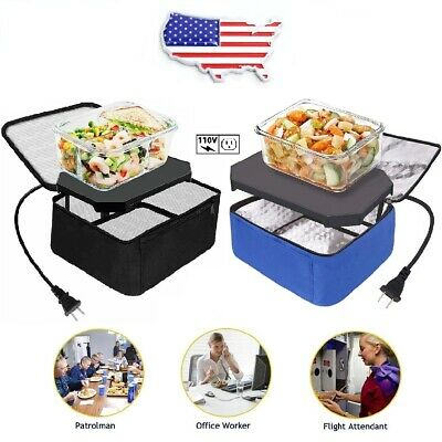 Electric 110v Lunch Box Food Warmers Heater Containers Portable Heating Hot Meal