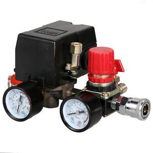 US Style Air Compressor Pressure Control Switch Manifold Regulator Fitting Kits