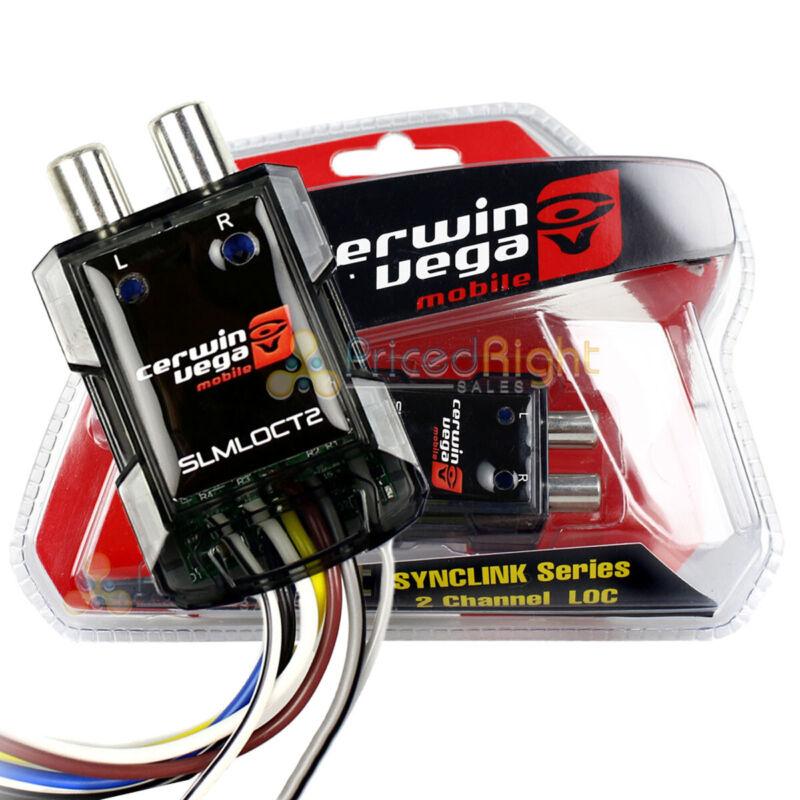 2 Channel Line Output Converter RCA Mini Trigger SYNCLINK Cerwin Vega SLMLOCT2