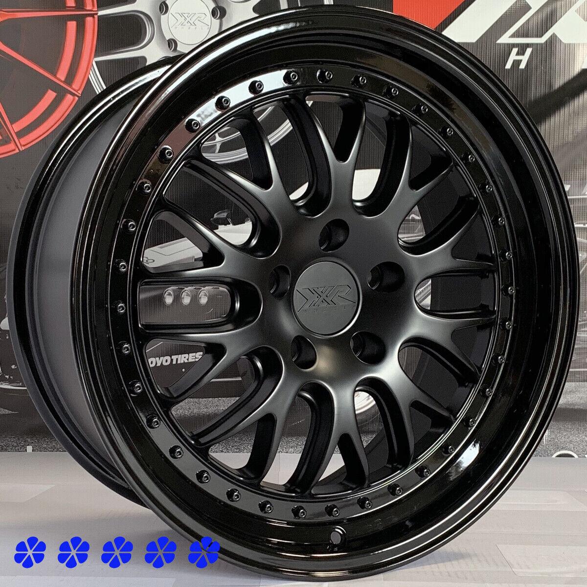 2015 Mustang Xxr 570 Wheels >> Details About Xxr 570 Wheels 18 X 8 5 35 Flat Black Gloss Lip Rims 5x114 3 Acura Rsx Type S