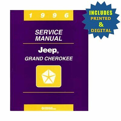 OEM Repair Maintenance Shop Manuals CD & Bound for Jeep Grand Cherokee 1996