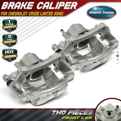 2x Brake Caliper W/ Bracket For Chevy Sonic Cruze Limited