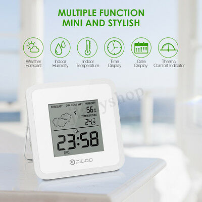 Digoo Mini Weather Station Hygrometer Thermometer Forecast Sensor Alarm