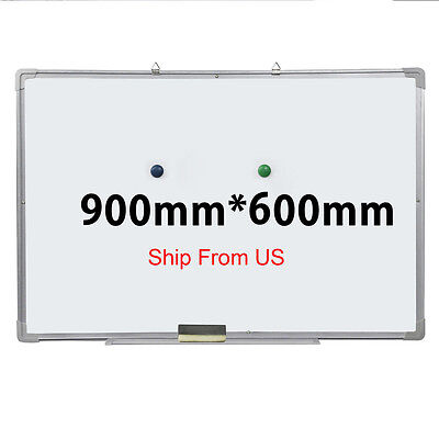 36x24 Single Side Magnetic Writing Whiteboard Dry Erase Board Office W Eraser