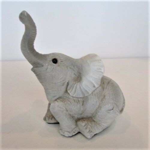 """Gray Elephant Figurine 4.5"""" x 4.5"""