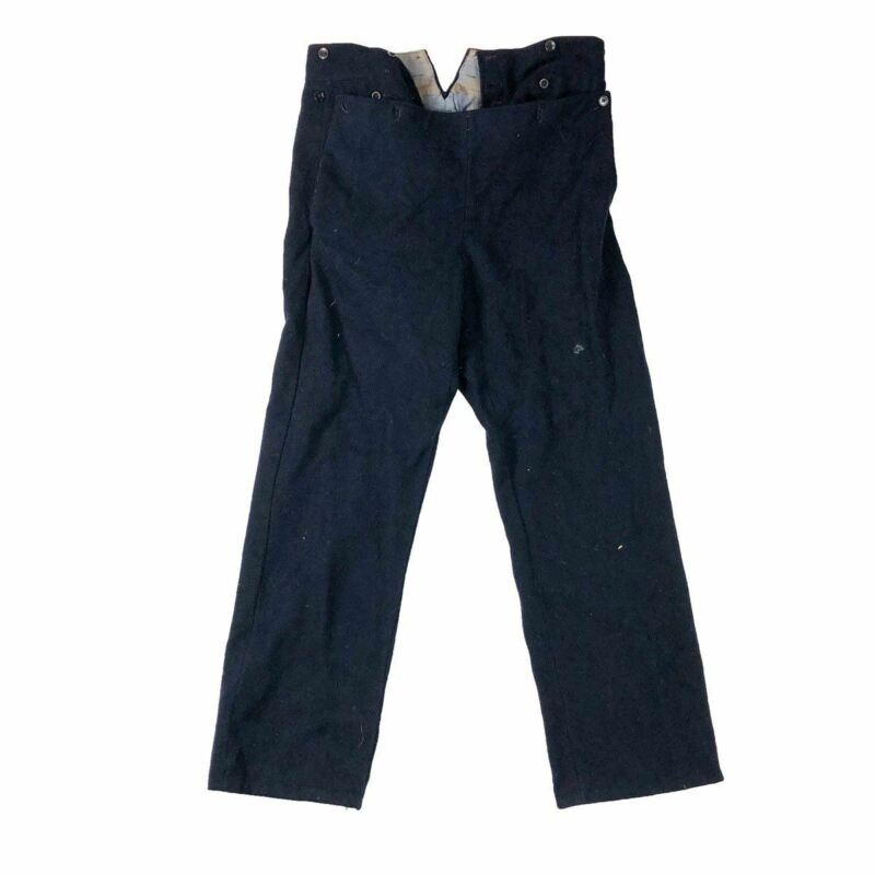 French Navy C1920 Bib Trousers Wood Buttons