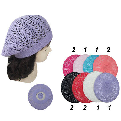 12pcs Women Winter Baggy Crochet Knit Slouchy Beanie Beret Cap Hat Wholesale Lot