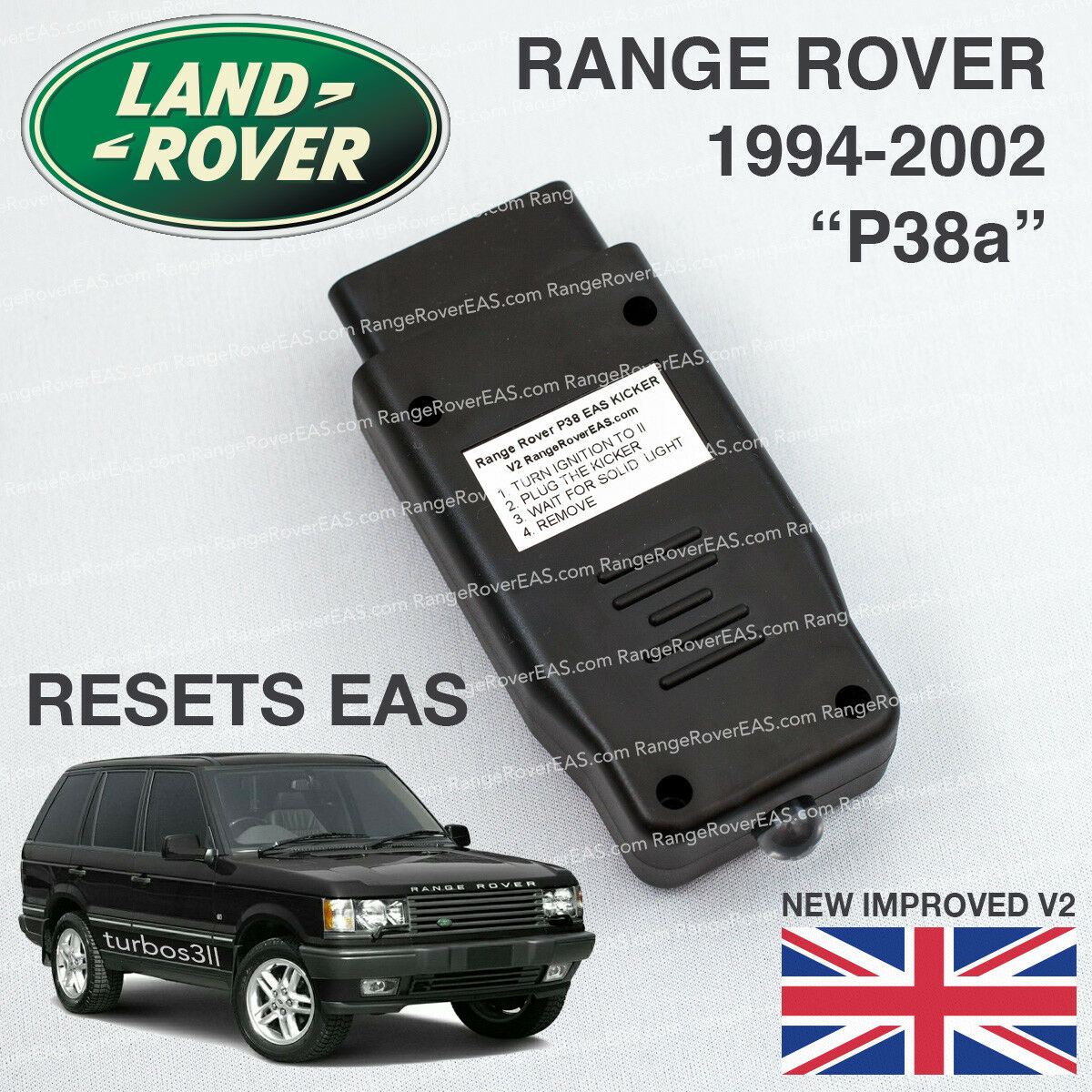 USB Reset Cable + RAVE EAS Range Rover P38 2.5//4.0//4.4 Air Suspension
