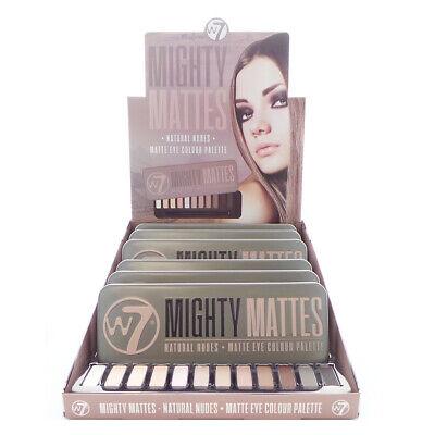W7 Mighty Mattes Natural Nudes Matte Eye Colour Palette Disp