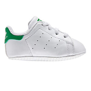 81be3c016 Kids s adidas Originals Stan Smith Crib Trainers in White UK 0.5 ...
