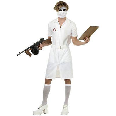 Erwachsene Herren Psycho Gedreht Krankenschwester Joker Dunkler Ritter (Psycho Krankenschwester Kostüme)