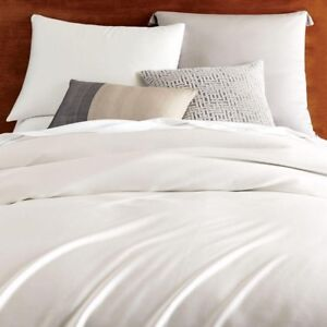 Brand New West Elm Tencel Duvet Cover Queen in Stone White