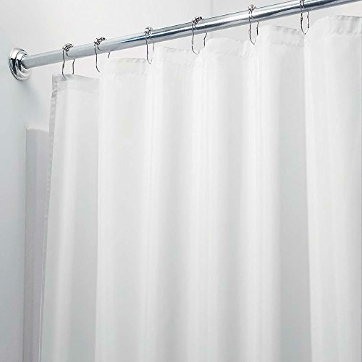 Long Fabric Waterproof Liner Shower Curtain Decor Style 72 X