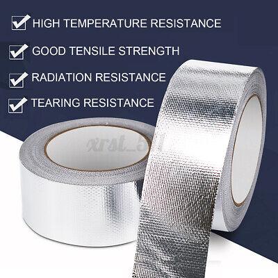 25m 27yd Fiberglass Aluminium Foil Tape Self Adhesive Heat Shield
