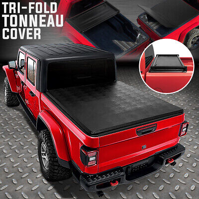 FOR 2020 JEEP GLADIATOR JT TRUCK BED ADJUSTABLE SOFT TOP TRI-FOLD TONNEAU COVER Jeep Gladiator Truck