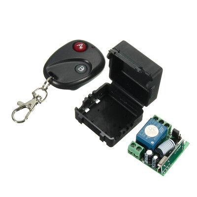 DC 12V Relay 1CH Wireless RF Remote Control Switch Transmitter Receiver 433MHz