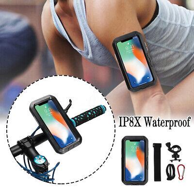 Fahrrad Handy Halterung Tauchen IPX8 Wasserdicht Dreh Halter Tasche für iPhone X
