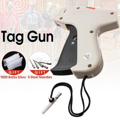 Clothing Regular Garment Price Tag Gun Machine With 1000 Barbs Label 5 Needle Us
