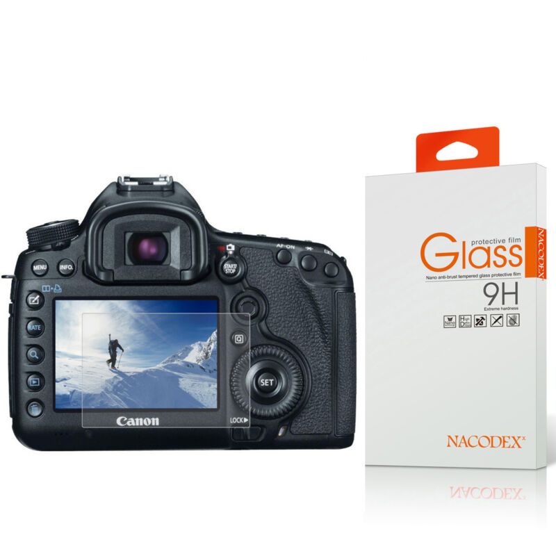 Nacodex Tempered Glass Screen Protector For Canon 5D Mark IV / 5DS / 5DS R