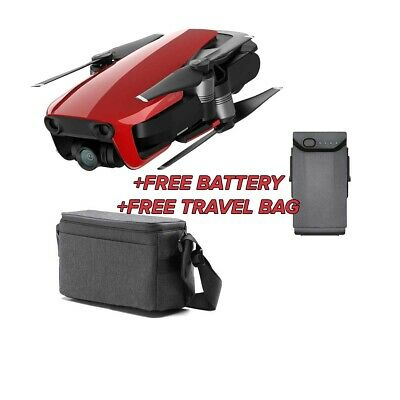 DJI Mavic Air 4K Quadcopter Flame Red - Extra Battery and Travel Bag Bundle