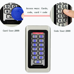 TIVDIO Single Keypad Door Access Control System RFID Door Entry Control Kit  IP68